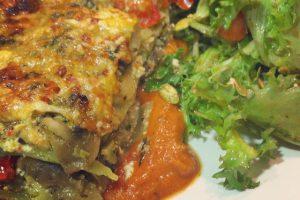 Mushroom, Spinach & Artichoke Lasagna