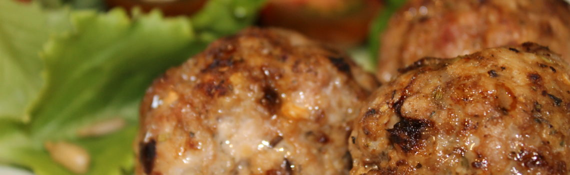 Pork Meatballs with Sun Dried Tomatoes and Mushrooms