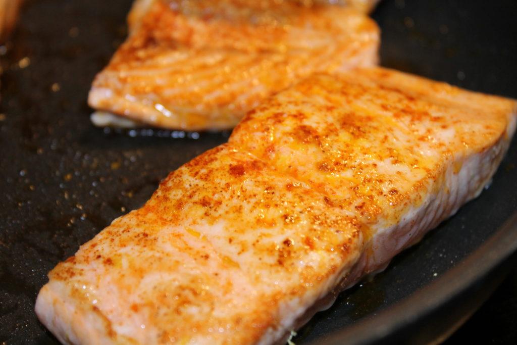 Lemon seared salmon filet