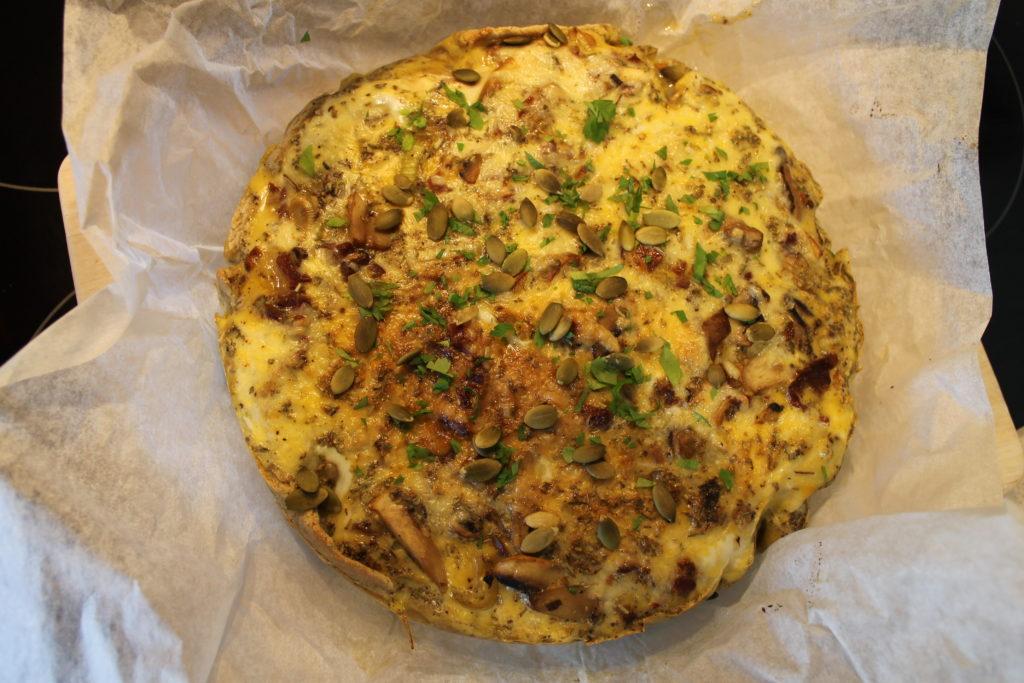 Mushroom, Leek, and Sun-dried Tomato Gluten Free Quiche