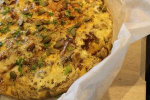 Mushroom, Leek & Sun-dried Tomato Gluten Free Quiche