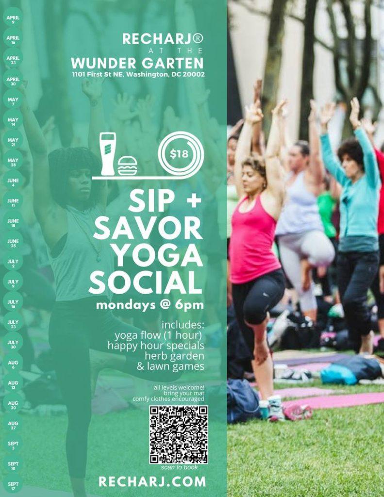 SIP + SAVOR Yoga Social