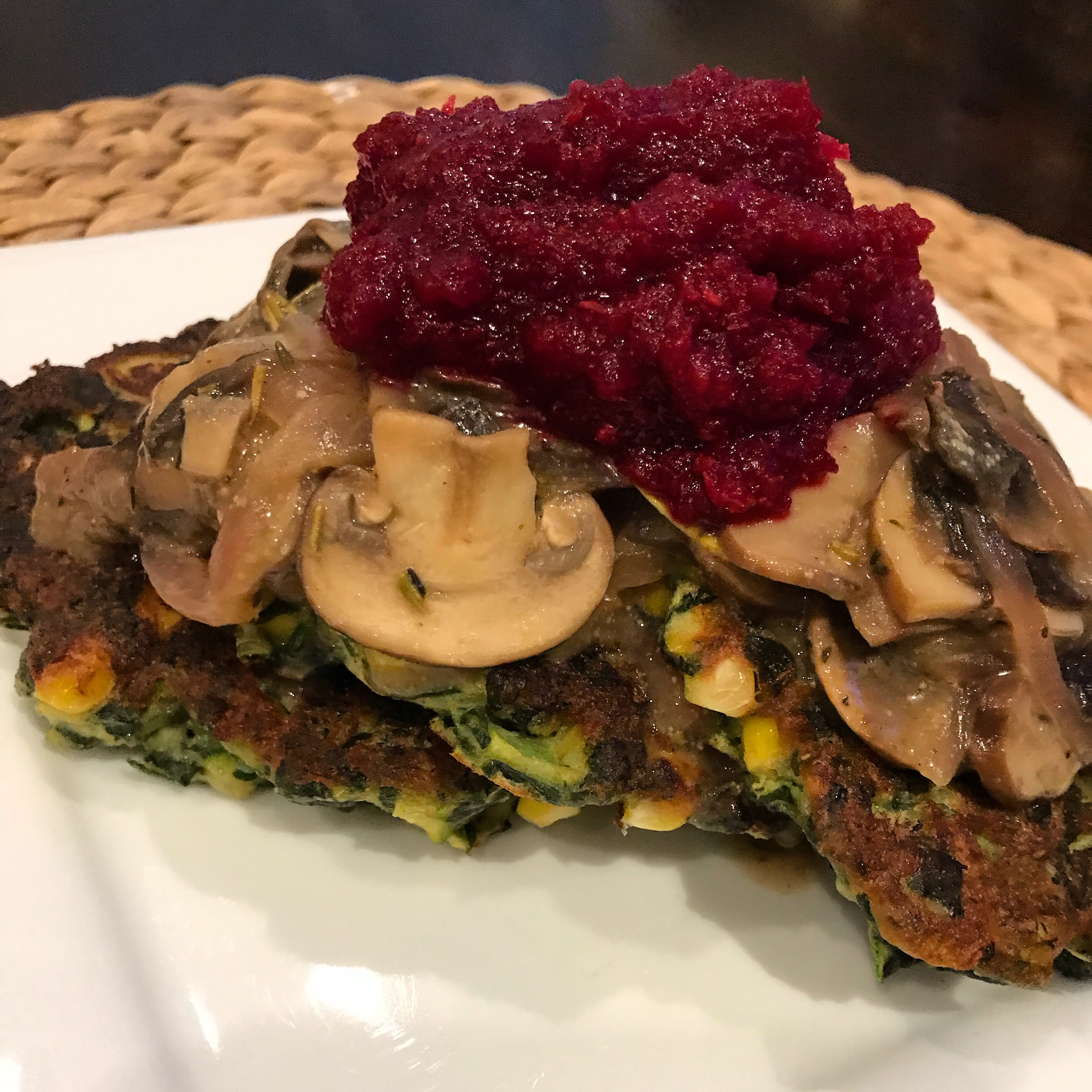 Spinach, Zucchini & Sweet Corn Cakes