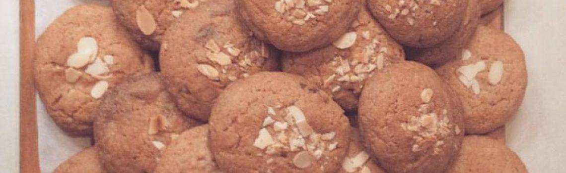 White Chocolate Almond Cookies