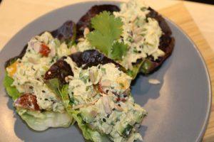 Healthy Chicken Salad with Creamy Avocado Dressing