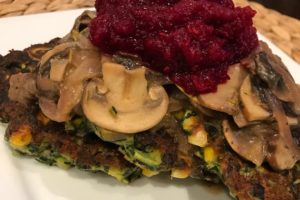 Spinach, Zucchini & Sweet Corn Cakes